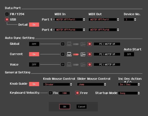 Motif XF USB-MIDI Setup Windows - Yamaha Synth