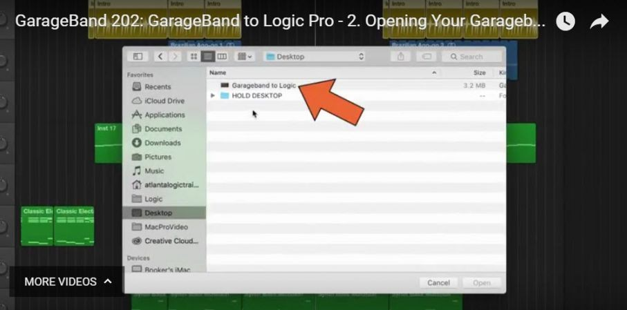 Synthbits: Help for Moving GarageBand Projects to Logic Pro X